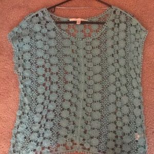 Lace crochet crop top.